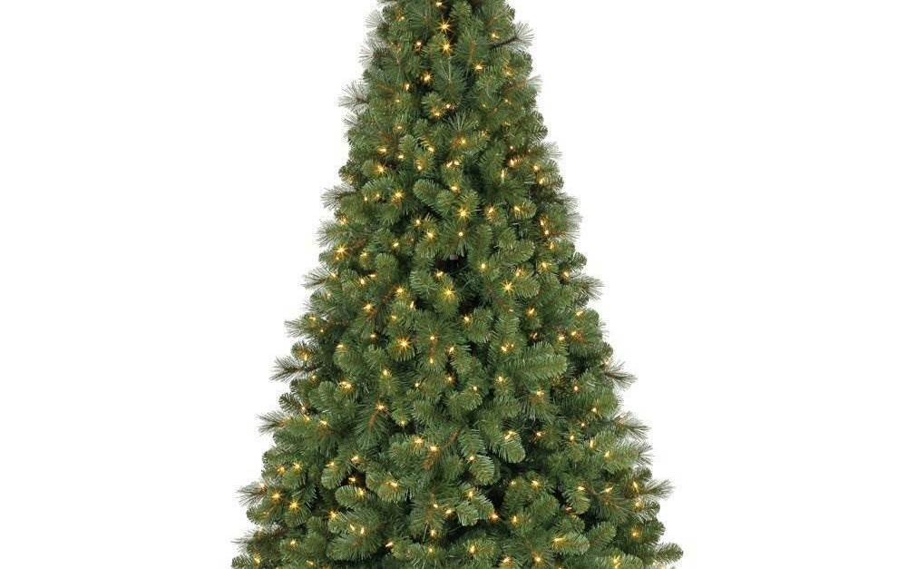 Home Heritage 9-ft artificial prelit Christmas tree for $182