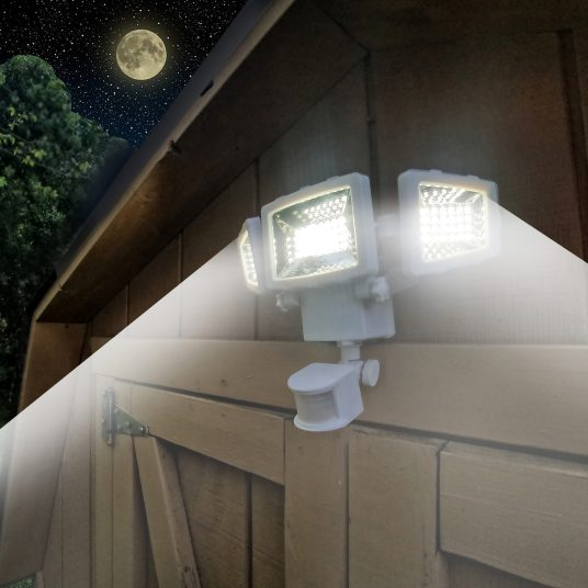 Westinghouse 2000 lumen triple head solar security light for $25