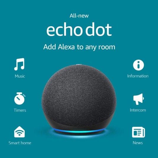 New Amazon Echo Dot smart speaker 2 for $80