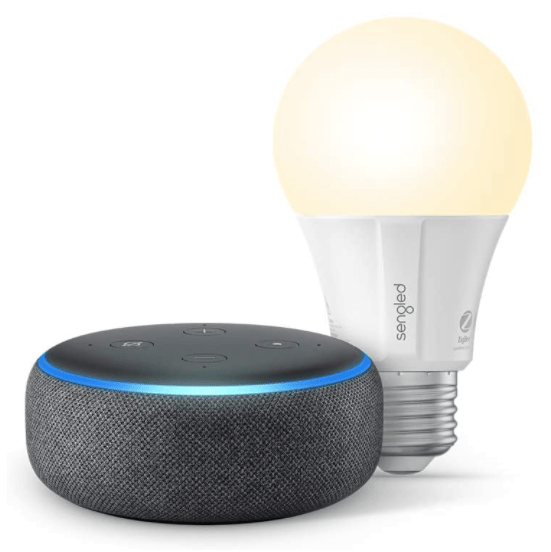 Amazon Echo Dot + FREE Sengled smart Wi-Fi LED bulb for $19