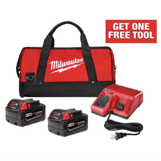 Get up to 2 FREE tools or batteries with purchase