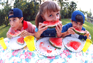 osceola water melon eating contest 4th of july