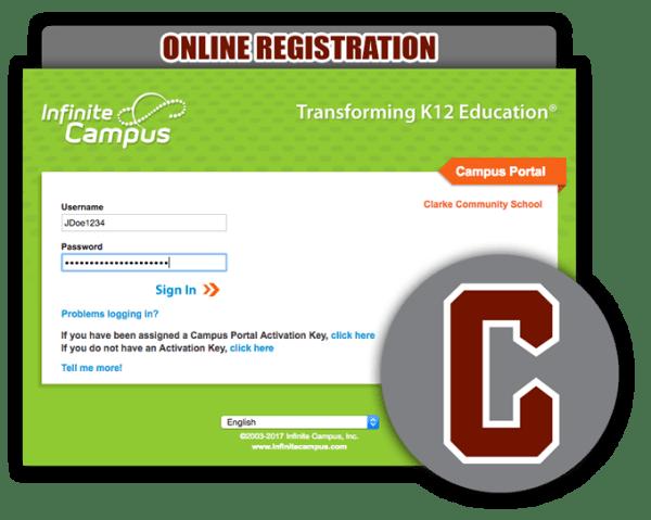 clarke community schools osceola online registration
