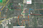 Osceola map with sidewalk program safe routes q-pond