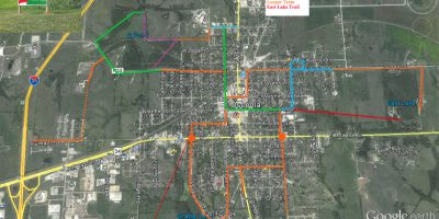 Osceola map with sidewalk program safe routes q-pond