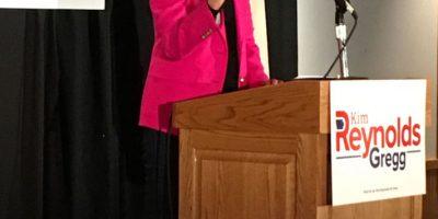 Iowa Governor Kim Reynolds Comes Home for Big Launch