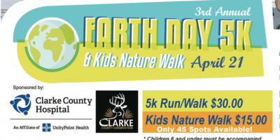 clarke county hospital earth day 5k