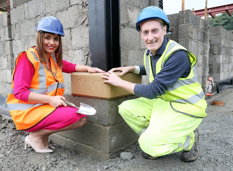 Laying the Foundation Stone At the new Pavilion Building At Brooke Park Derry