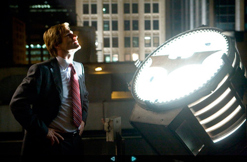 "Aaron Eckhart in ""the Dark Knight."""