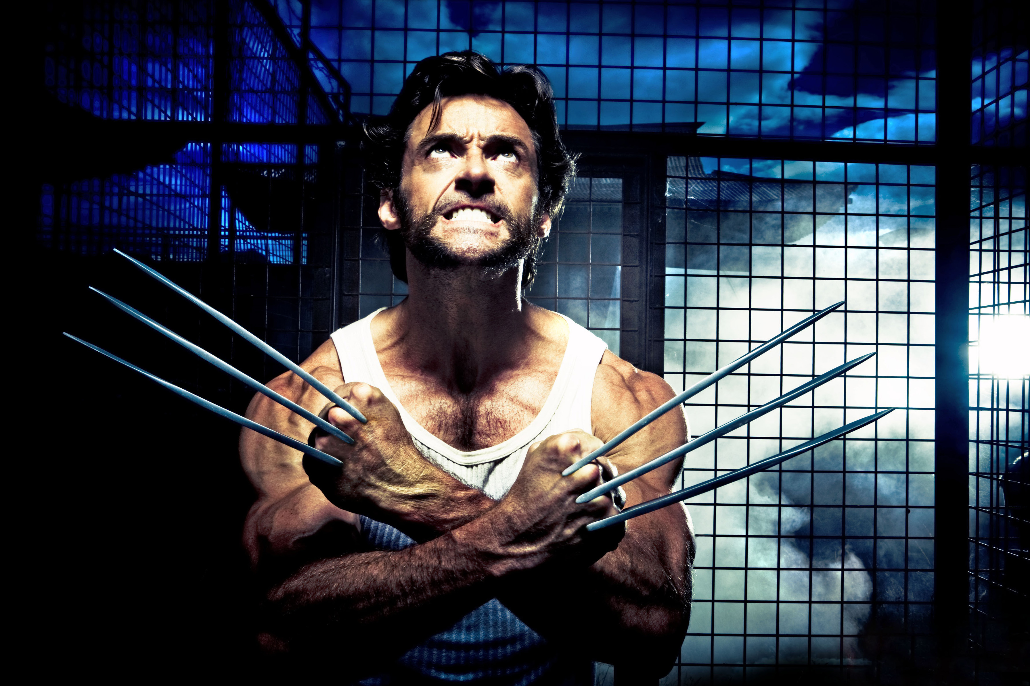 "Hugh Jackman plays the title character in the latest Marvel Comics superhero adventure ""X-Men Origins: Wolverine."""