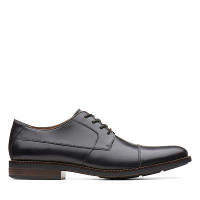 Black Leather Slip On Shoes