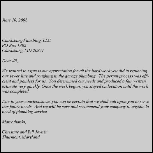 joyner letter