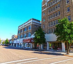 An old theater and multi-story office building available in Clarksdale, MS.