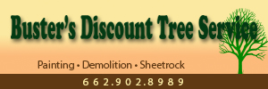 Busters Discount Tree Service, Clarksdalle, Mississippi