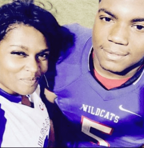 Dayeveon and Lekitha Hill in a selfie after a Clarksdale High School football game.