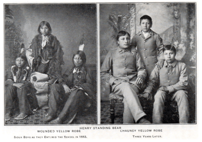 Carlisle Indian School students. (Americans and Natives had difficulty agreeing on what it meant to have a good education.)