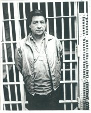 Ceasar Chavex in front of his jail cell in 1970.