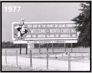 Smithfield, NOrth Carolina roadsign in 1977.