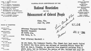 William James Howard, NAACP letter