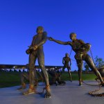 Enslavement sculpture at the National Memorial for Peace and Justice.
