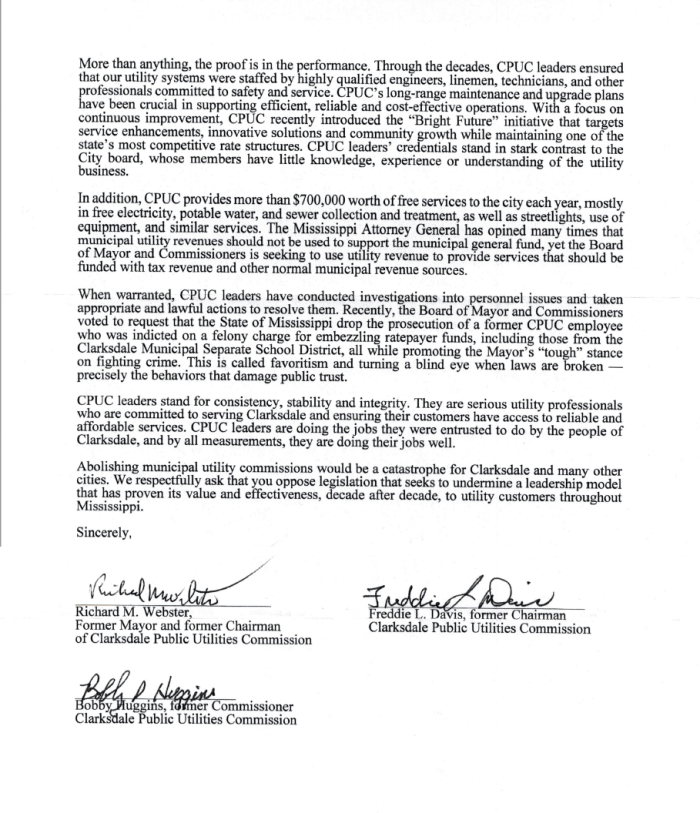 Officials letter re City takover of CPU, pg.2
