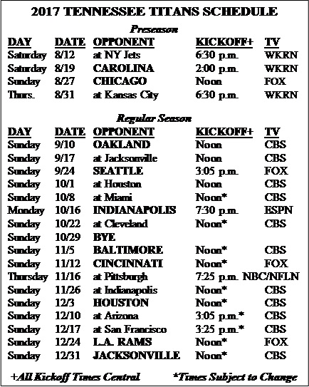 Tennessee Football Schedule 2018 Printable