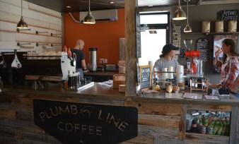 Interior of Plumb Line café