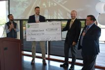 NetGreene Solutions and CrossPath Telecom Network celebrated financial freedom for the company on Thur. May 20 2021. (Lee Erwin)