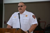 Clarksville Fire Rescue Assistant Chief of Maintenance, Bobby Nall, at the ribbon cutting of the new CFR Maintenance Garage on Wed July 7 2021 (Lee Erwin).