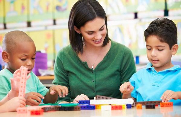Parents Sign Children Head Start Program