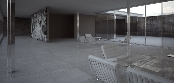 Claroscuro: casa con tres patios, visualización arquitectónica,