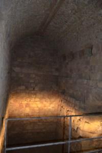 No Criptopórtico, celas onde armazenavam cereais.