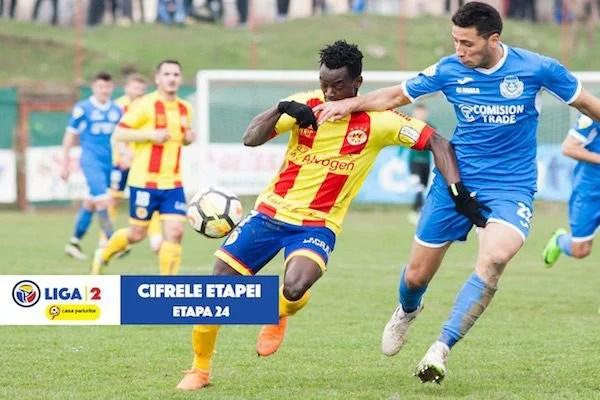 Liga 2, cifrele etapei: Senegalezul Mediop, cel mai bun marcator pe teren propriu, cu 16 reuşite