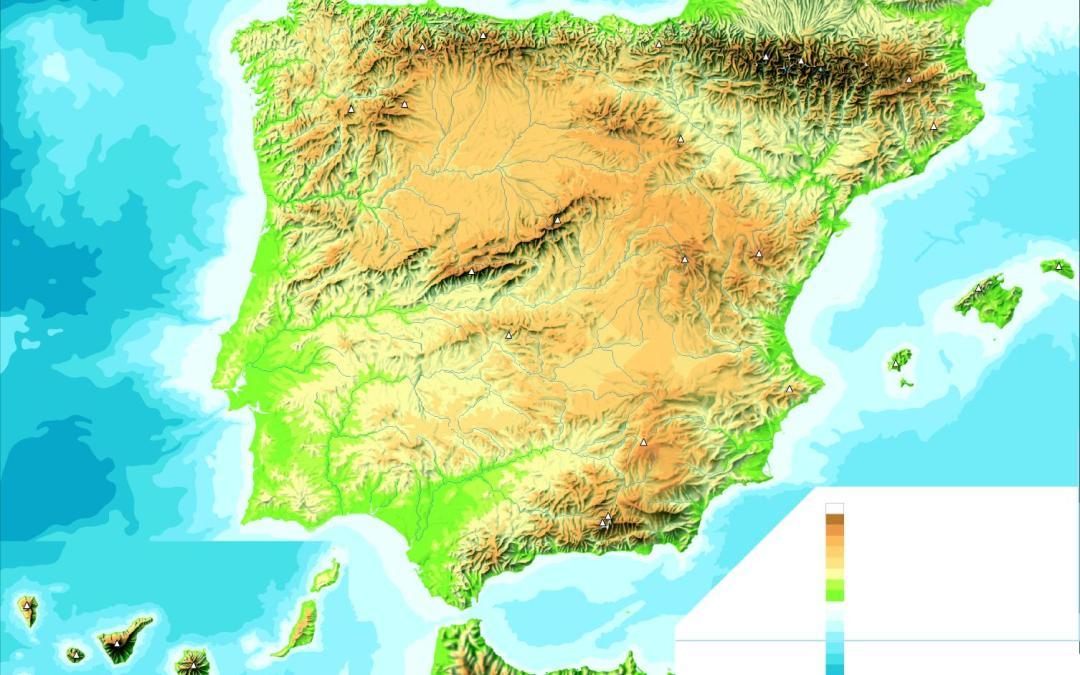 Mapas físicos de España
