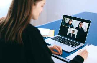 people on a video call