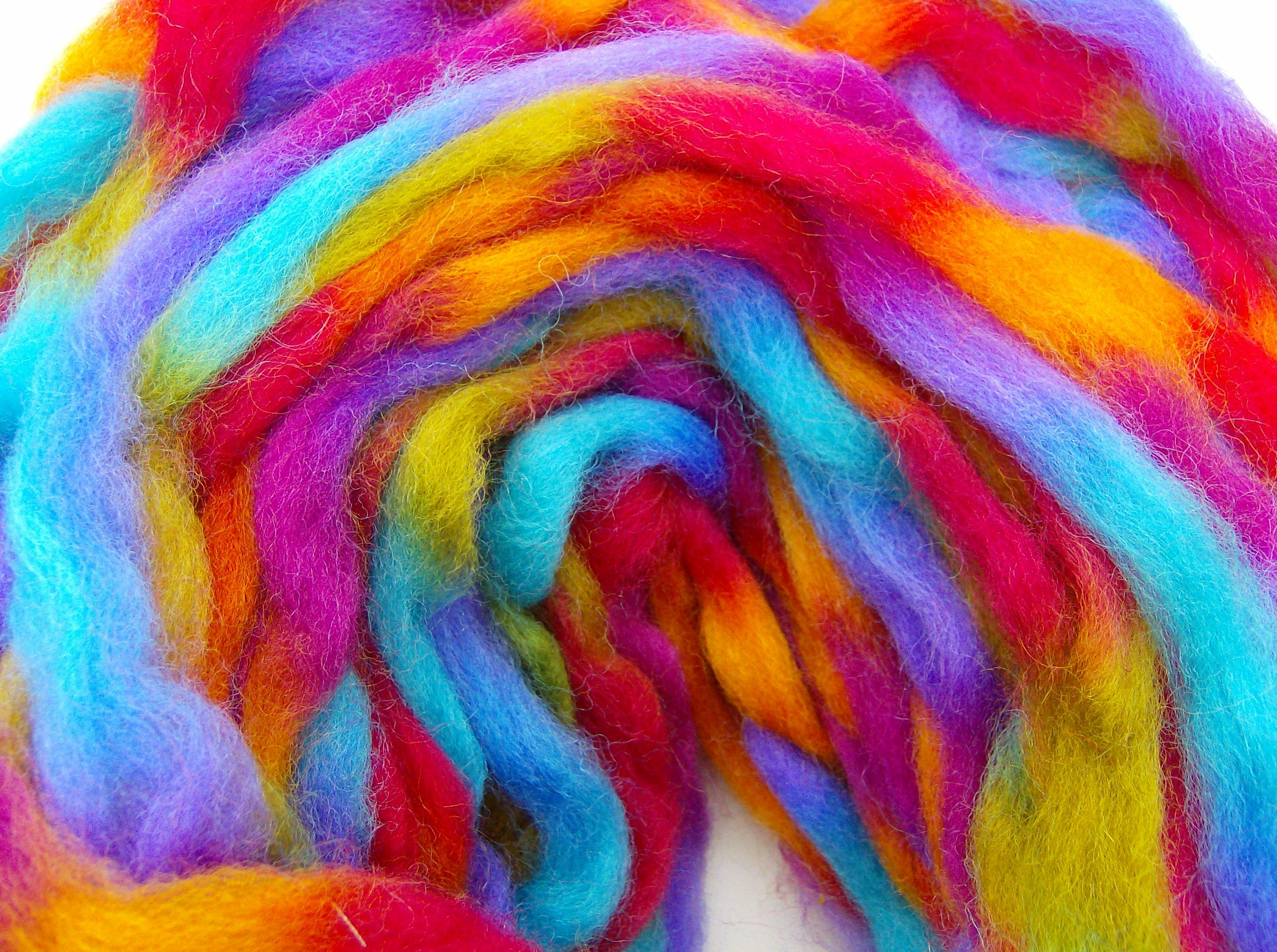 Some of my wool sliver to destash