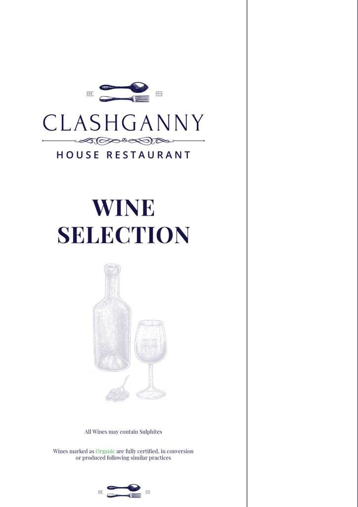 Drinks Menu - Clashganny House Restaurant