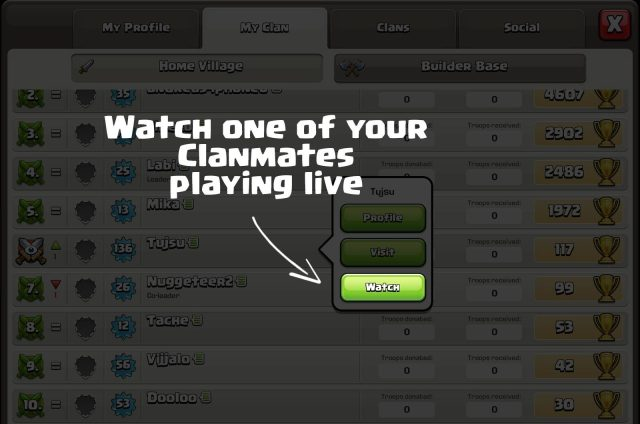 coc oct watch live clans - Sneak Peek: miglioramenti social, utenti online e nuovi badge clan!