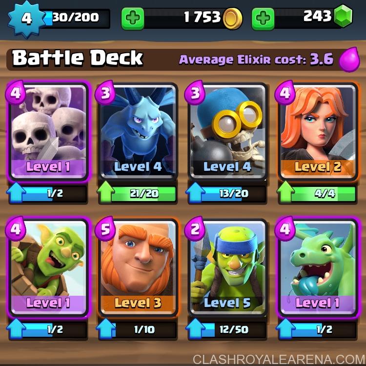 Clash Royale Battle Deck