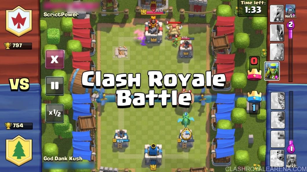 a Clash Royale Battle