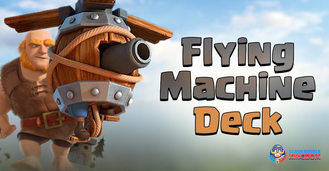 The-Flying Machine-Cycling-Deck-header-Clash-Royale-Kingdom