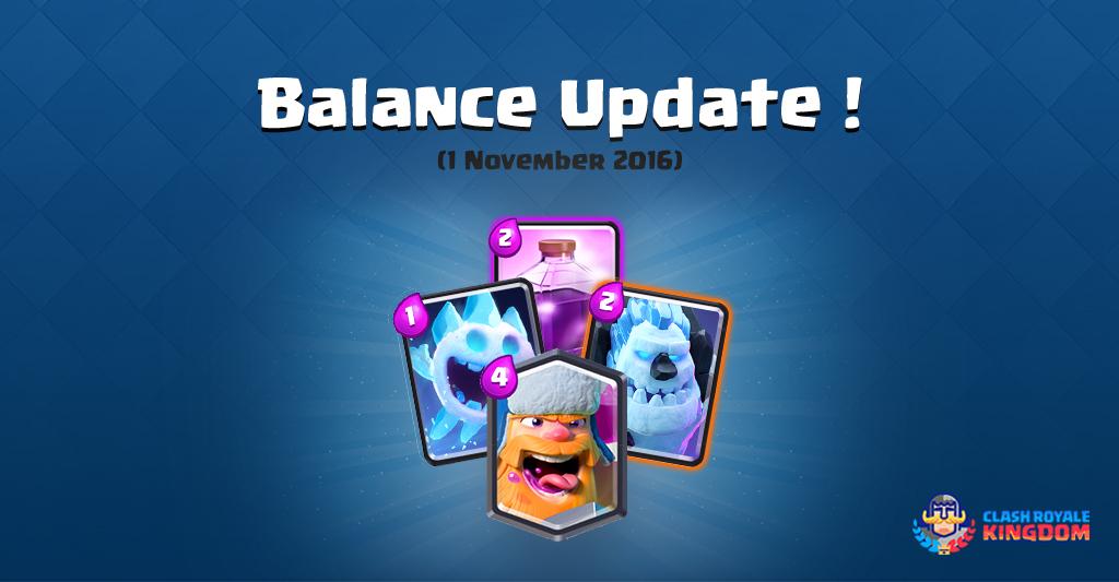 Balance Changes Live! (1 November, 2016)