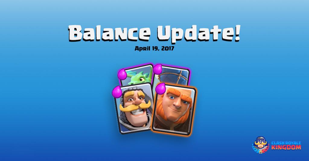 Balance Changes Live! (19 April, 2017)
