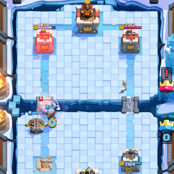 Two-elements-cover-x-bow-dr.-Freeze-and-dr.-Electro-clash-royale-kingdom