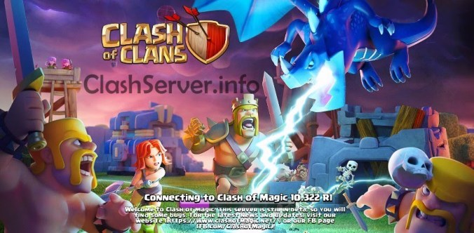 Clash of Magic 2018 Apk Start Screen
