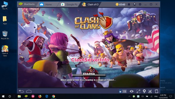 Clash of Clans for Windows 10 Load Screen 2019