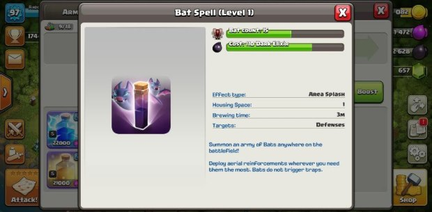 Clash of Clans 11.185.8 Apk Bat Spell