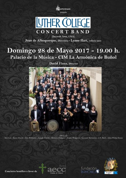 Concierto de la Luther Collegue Concert Band en Buñol