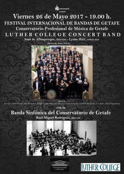 Concierto en Getafe de la Luther College Concert Band y la Banda Sinfonica del Conservatorio de Getafe