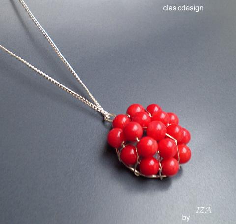 bijuterii argint pietre semipretioase-coral rosu